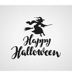 Happy Halloween handwritten lettering vector