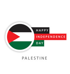 Happy palestine independence day template design vector