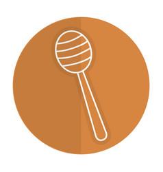 Honey stick isolated icon vector