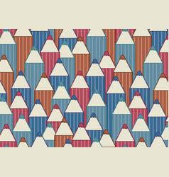 horizontal background with cartoon pencils vector image