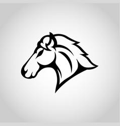 horse logo icon design vector image