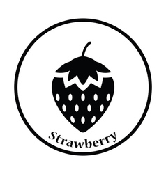 Icon of Strawberry vector image
