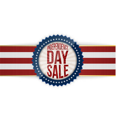 independence day sale patriotic emblem vector image