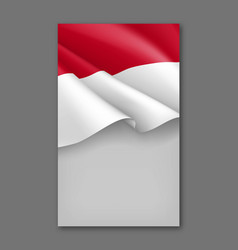 Indonesian patriotic background template vector