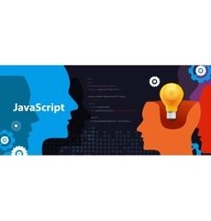 Java script programming language code software vector image