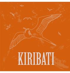 Kiribati Retro styled image vector