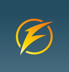 Letter F lightning logo icon design template vector image