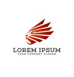 lion head logo design concept template vector image