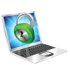 lock icon laptop concept vector image