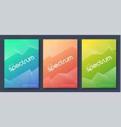 Minimalist abstract gradient cover designs vector