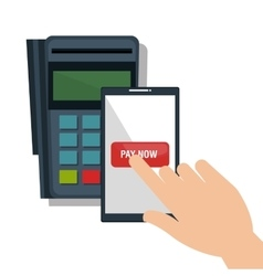 mobile payments concept icon vector image