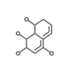 molecule atom dna line icon vector image