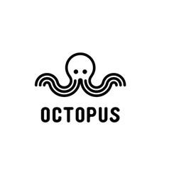 Octopus simple logo design vector