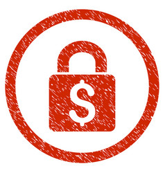 Pay lock rounded grainy icon vector