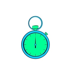 Pocket watch icon in cartoon style vector