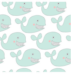 Print with whale vector