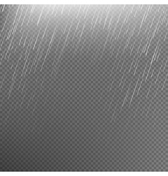 Rain transparent template background EPS 10 vector