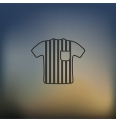 Referee icon on blurred background vector