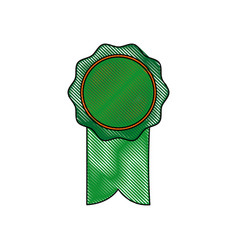 Rosette ribbon award winner symbol vector