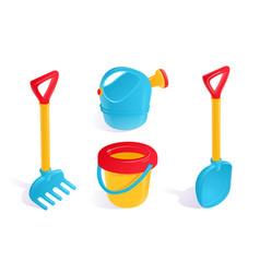 Sandbox toys set vector