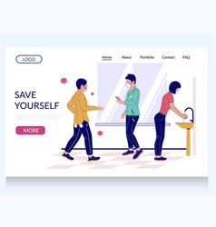 save yourself during pandemic website vector image