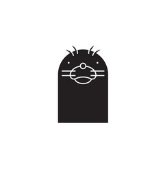 seal head black concept icon seal head vector image