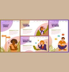 set four different website template designs vector image