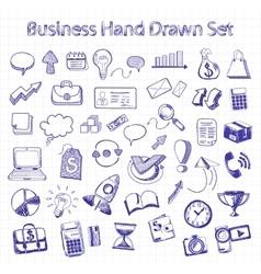 Set of doodle business management vector