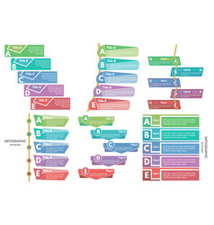 set of six elements of infographic design vector image