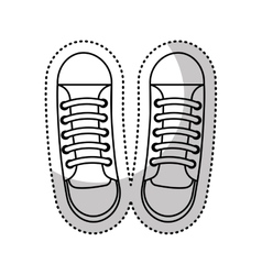 Shoe young style icon vector