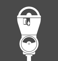Silhouette of retro parking meter vector