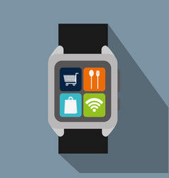 Smartwatch with option to shopping online and nfc vector