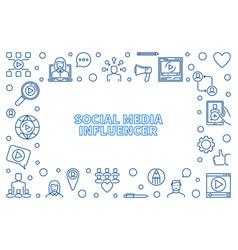 social media influencer outline frame vector image