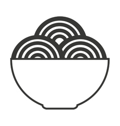 Spaghetti dish isolated icon vector