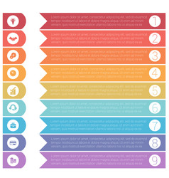 template infographics from colorful hrizontal vector image