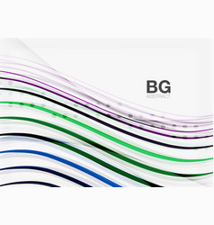 Thin lines wave abstract background vector