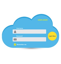 User login 44 vector image