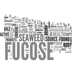 Why fucose text word cloud concept vector