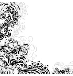 floral pattern of abstract elements vector image vector image