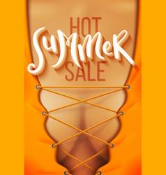 hot summer sale vector image