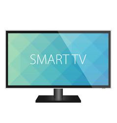 tv flat screen realistic vector image vector image