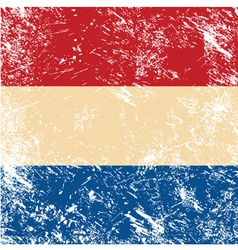 Holland retro flag vector image vector image