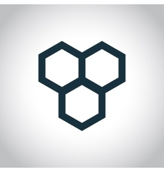 Honeycomb simple icon vector image