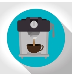 machine coffee with cup coffee graphic vector image vector image