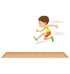 Man athlete doing long jump vector image vector image