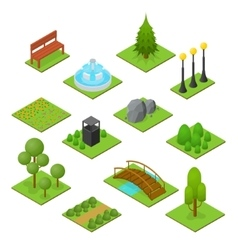 Park Set Isometric View vector image