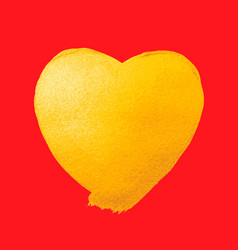 shining gold heart watercolor texture vector image vector image