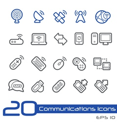 Wireless Communications Outline Series vector image vector image