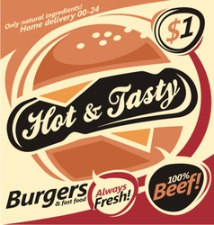 Burger document template vector image