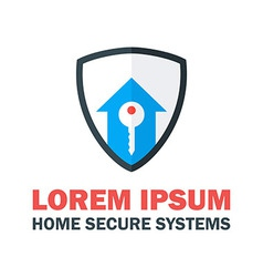 Home Security System Logo vector image